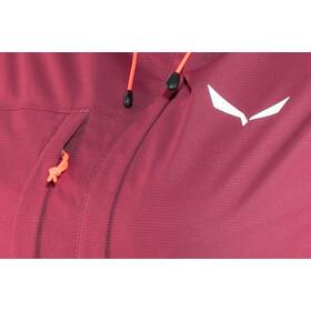 SALEWA Puez Clastic PTX Chaqueta de 2 capas Mujer, red plum